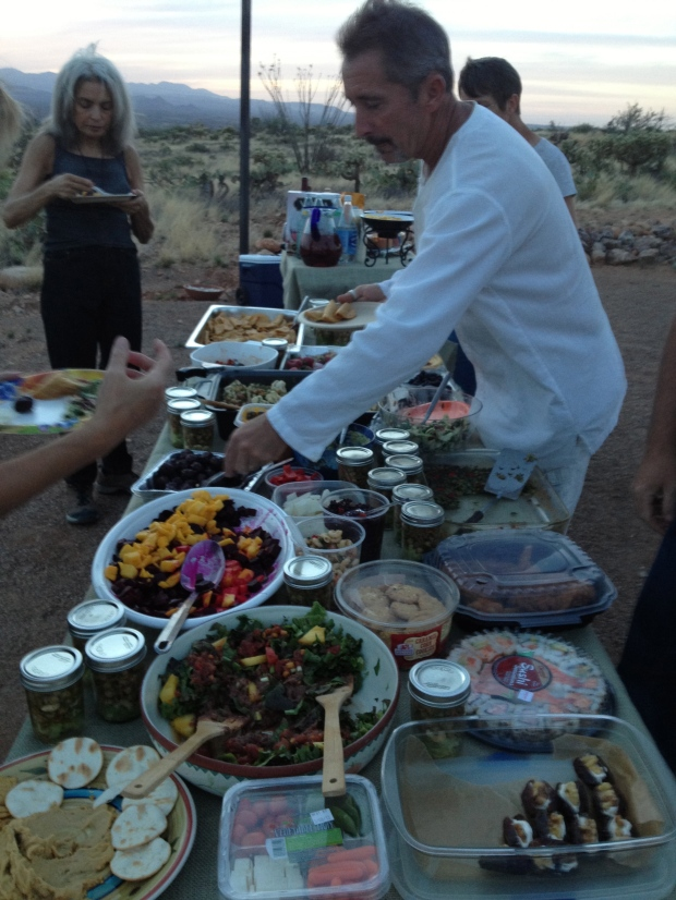 Incredible food and new friends at the May Tucson Death Cafe Special Edition: Higher Pyre.