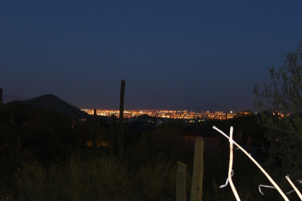 Night lights of Tucson on a clear night.