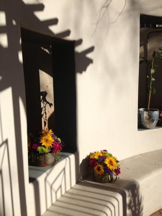 Afternoon shadows at Tucson Museum of Art courtyard