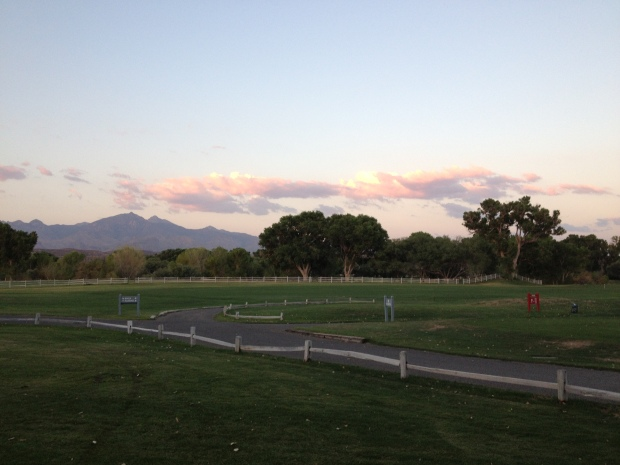 View of the Santa Rita Mountains from Tubac Golf Resort's Otero Lawn