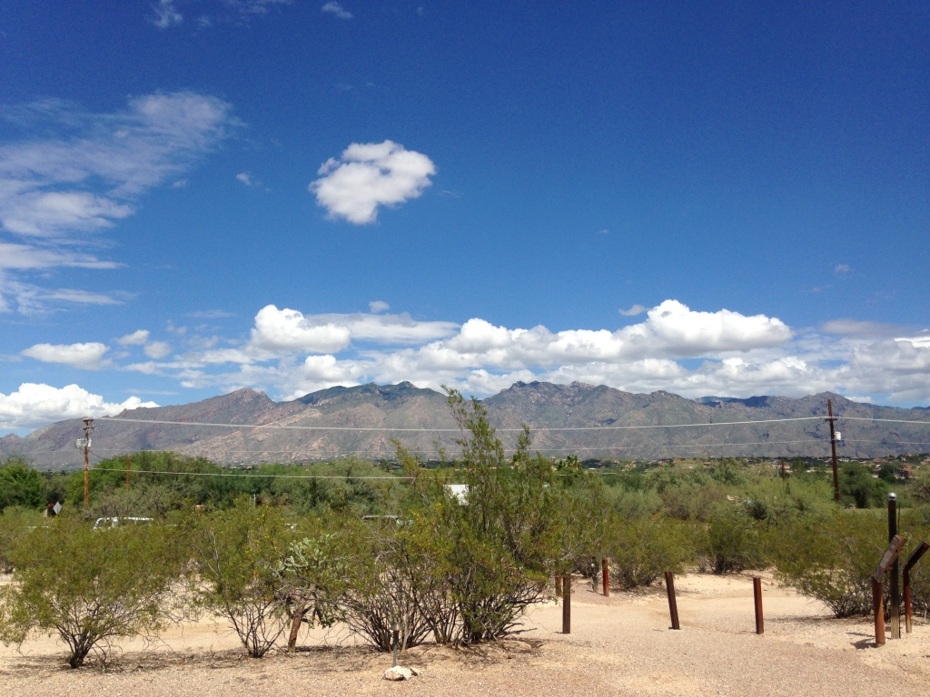 View of Catalina Mountains from Chapel