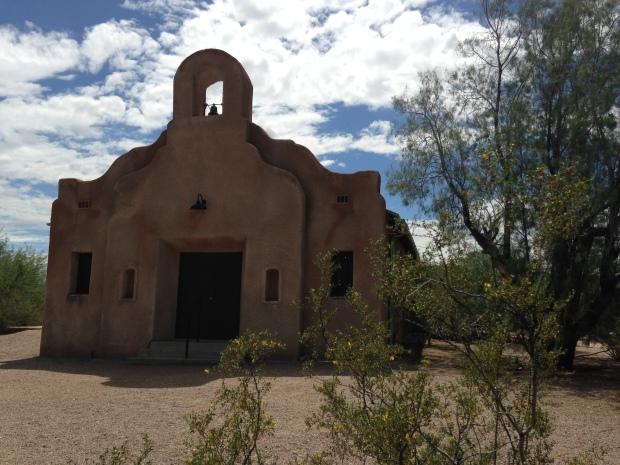 The north facing entrance to San Pedro Chapel